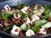 Salade d'epeautre feta, concombre & noisettes concassees