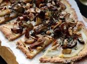 Flatbread (pain plat cèpes l'huile truffe