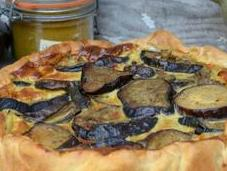 Quiche aubergines curry