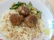 Boulettes porc, basilic sauce miel