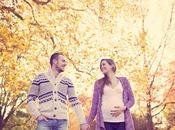 Séance photo femme enceinte Paris photos grossesse d'automne extérieur