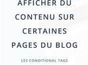 Afficher contenu certaines pages blog Blogger