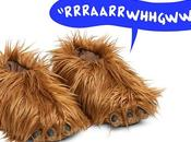 chaussons sonores Chewbacca pour l'hiver