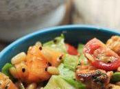 Salade poulet mariné melon