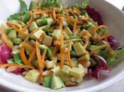 Salade kumquats avocat, sauce aigre-douce