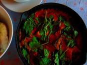 Tofu pommes terre four avec sauce chou-fleur poivrons grillés