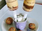 Push cakes moelleux fromage blanc patte datte crème mousseline vanille-caramel