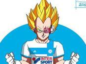 graphiste stylisé super-héros couleurs l'OM