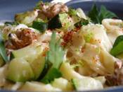 Linguine courgettes & noix, sauce citron vert