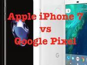 Apple iPhone Google Pixel, comparaison technique