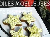 Étoiles moelleuses café pistache.