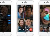 vidéo groupe arrive Facebook Messenger
