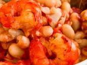 Petit plat haricots blancs crevettes