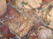 Ragoût filet mignon porc Porto gingembre