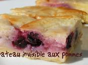 Gateau invisible pommes fruits rouges
