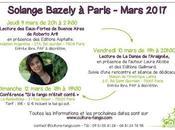 Solange Bazely passage Paris semaine prochaine [ici]