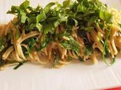 Spaghettis Mouron, Cardamine, Consoude Roquette (Vegan)