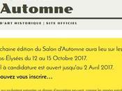 Pour candidater prochain Salon d'Automne 2017