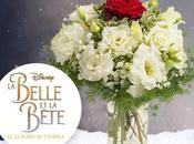 """Interflora partenaire film Disney belle bête"""" présente bouquet ÉTERNELLE"""