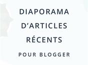 Ajouter diaporama automatique articles récents Blogger