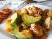 Sauté dinde chorizo, petits légumes sauce saté