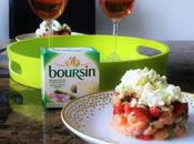 Nous avons testé: Tartare saumon, fraises Boursin® Bouquet basilic Ciboulette
