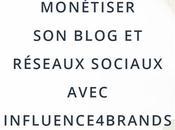 Monétiser blog réseaux sociaux avec Influence4brands