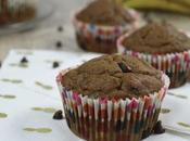 Muffins peau banane pépites chocolat