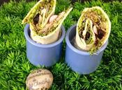 Wrap végétarien avec partenaire Elixanatur.fr graines germées, avocat roquette, radis, cranberries, courge tournesol