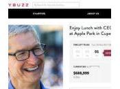 Enchères dollars pour déjeuner avec Cook l'Apple Park