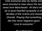 Paul McCartney réaction après l'attentat Manchester