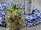 Salade quinoa feuilles chou-fleur graines tournesol