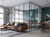 chambre installée dans verrière pour petit appartement
