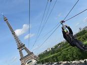 photos vidéos gagnants #SmashPerrier sautant depuis 2ème étage Tour Eiffel