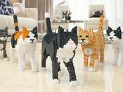 Jekca chats grandeur nature briques LEGO