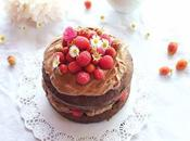 Gâteau double chocolat mascarpone fruits rouges