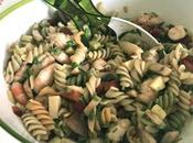 Salade pâtes légère crevettes légumes