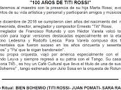 prochain Plenario saluera centenaire naissance Titi Rossi l'affiche]