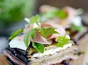 Mille-feuille d'aubergines confites, Prosciutto cotto Feta