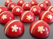 Bonbons chocolat fraise guimauve