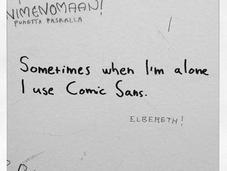 Splendeurs misères Comic Sans