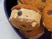 Sandwich glacé: Cookies Glace express beurre cacahuète