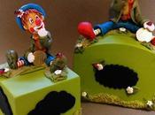 Tirelire avec clown porcelaine froide