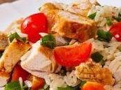 Salade colorée poulet oignons