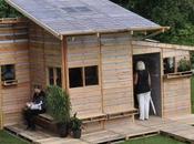 Pallet House Studio i-beam