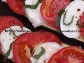 Courgettes capreses (Mozzarella,Pesto,tomates)