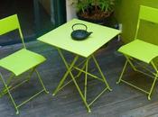 Table chaise exterieur cher fauteuil jardin