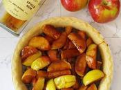 Tarte pommes caramel salé rhum épicé