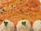 Carpaccio saumon citron gingembre, boules gluant