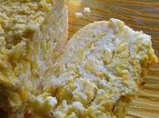 Flan polenta courgettes, coeur mozzarella